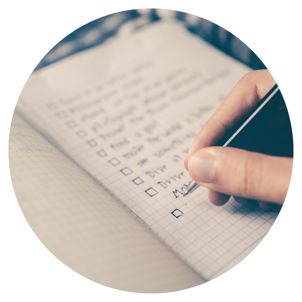 Checklist on paper